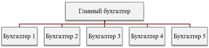 Линейная (иерархическая) организационная структура бухгалтерской службы